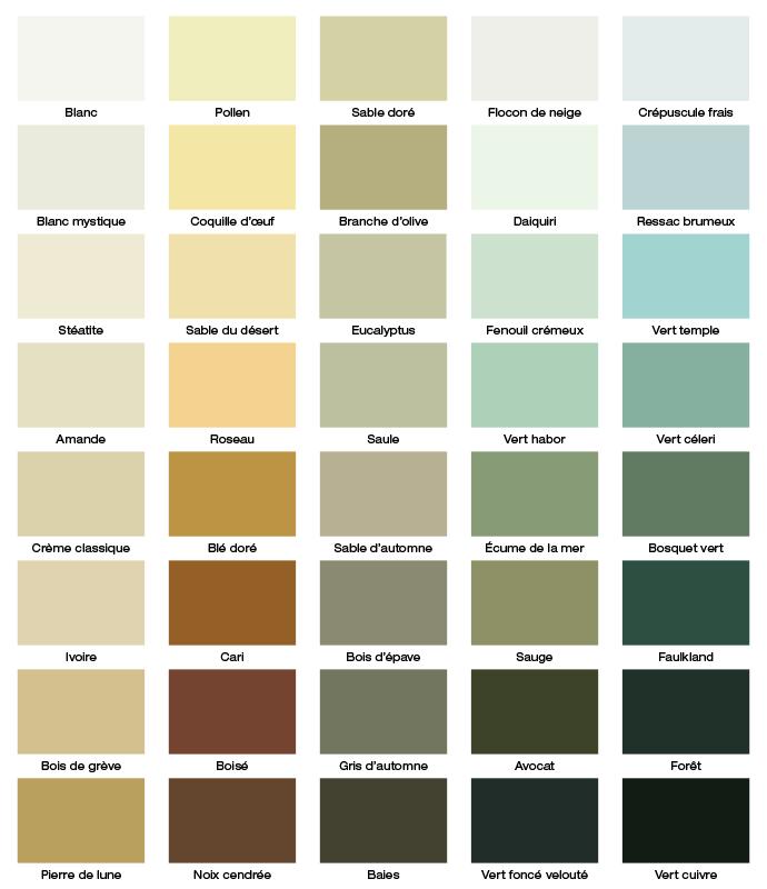 Betonel Palette Des Teintures Opaques D Exterieur