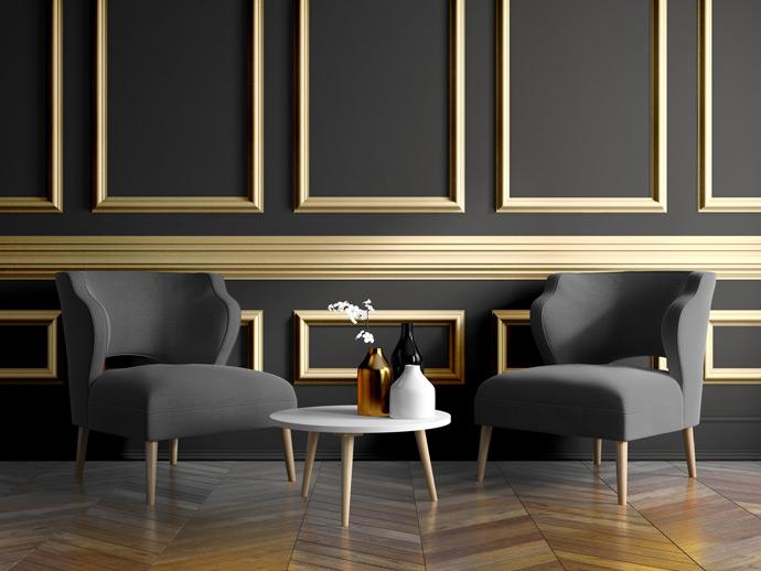 Assurez vous de répéter cette couleur ailleurs dans la pièce à laide de meubles et daccessoires et déquilibrer cette nuance intense avec un ton plus